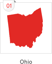 Ohio has the most number of submissions with 31 causes